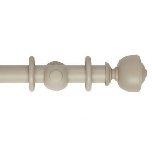 Museum Asher 35mm Wooden Curtain Pole - Greystone